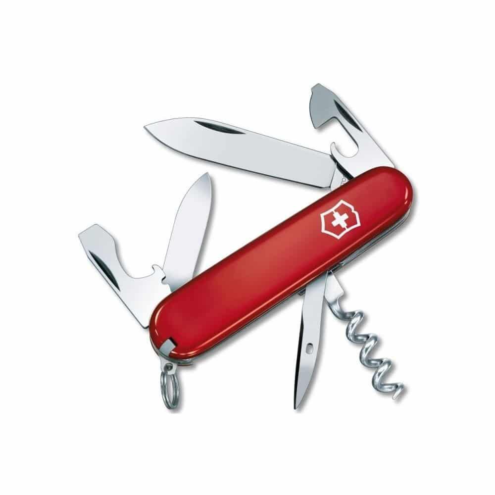 Červený kapesní nožík pro dědu.