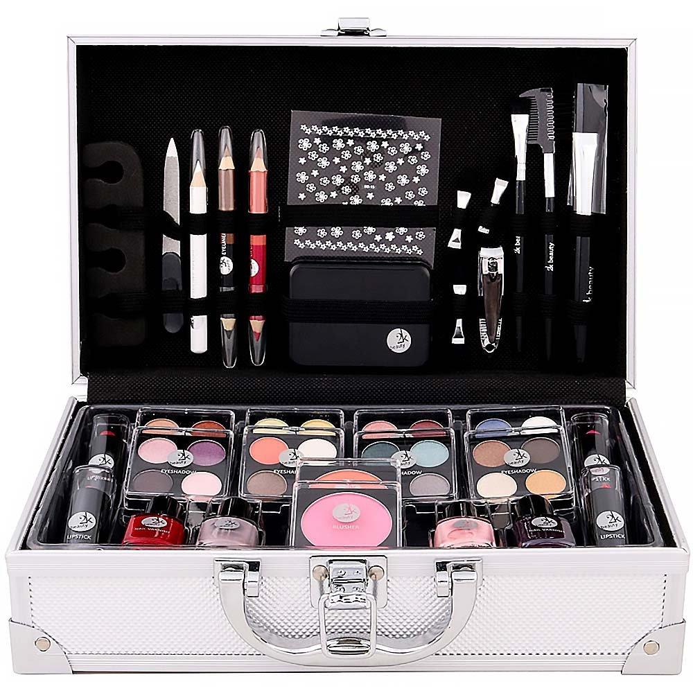 Sada kosmetiky v kufříku.