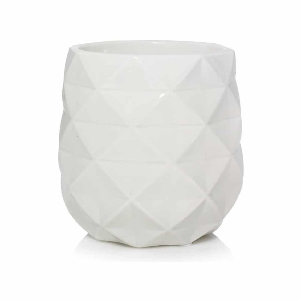 Yankee Candle bílá aromalampa na vonný vosk.