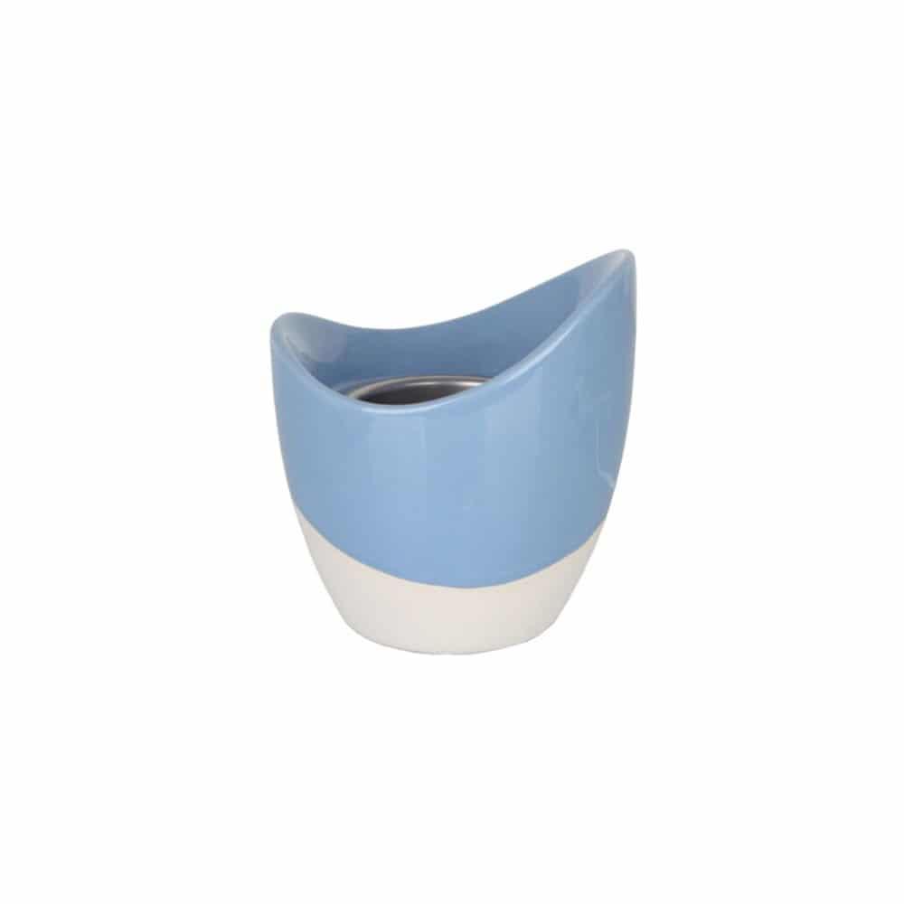 Modrobílá aroma lampa s časovačem na rozpouštění vosku.