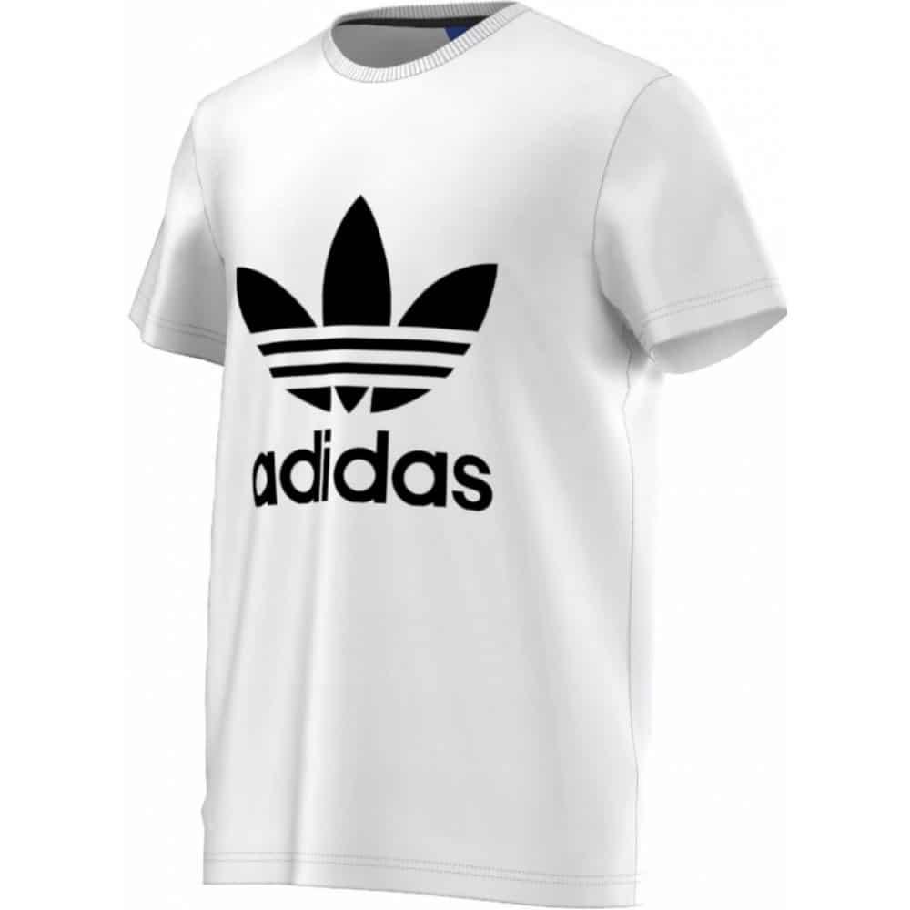 Pánské bílé tričko adidas.
