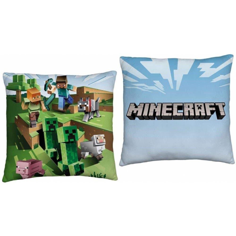 Polštář s oblíbenou hrou Minecraft.